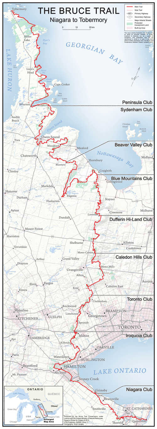 Bruce Trail Overview Map